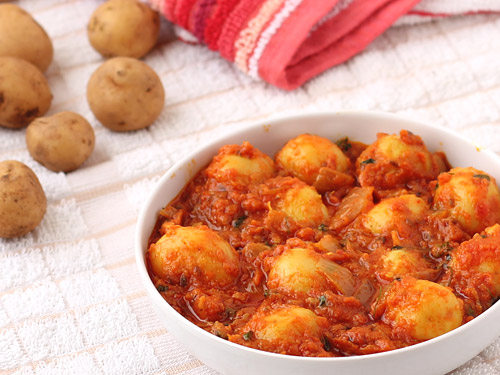 Baby Potato Curry by Pooja